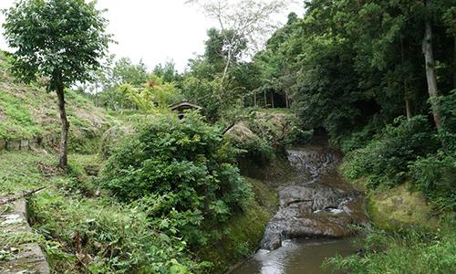 桜川不動尊の滝